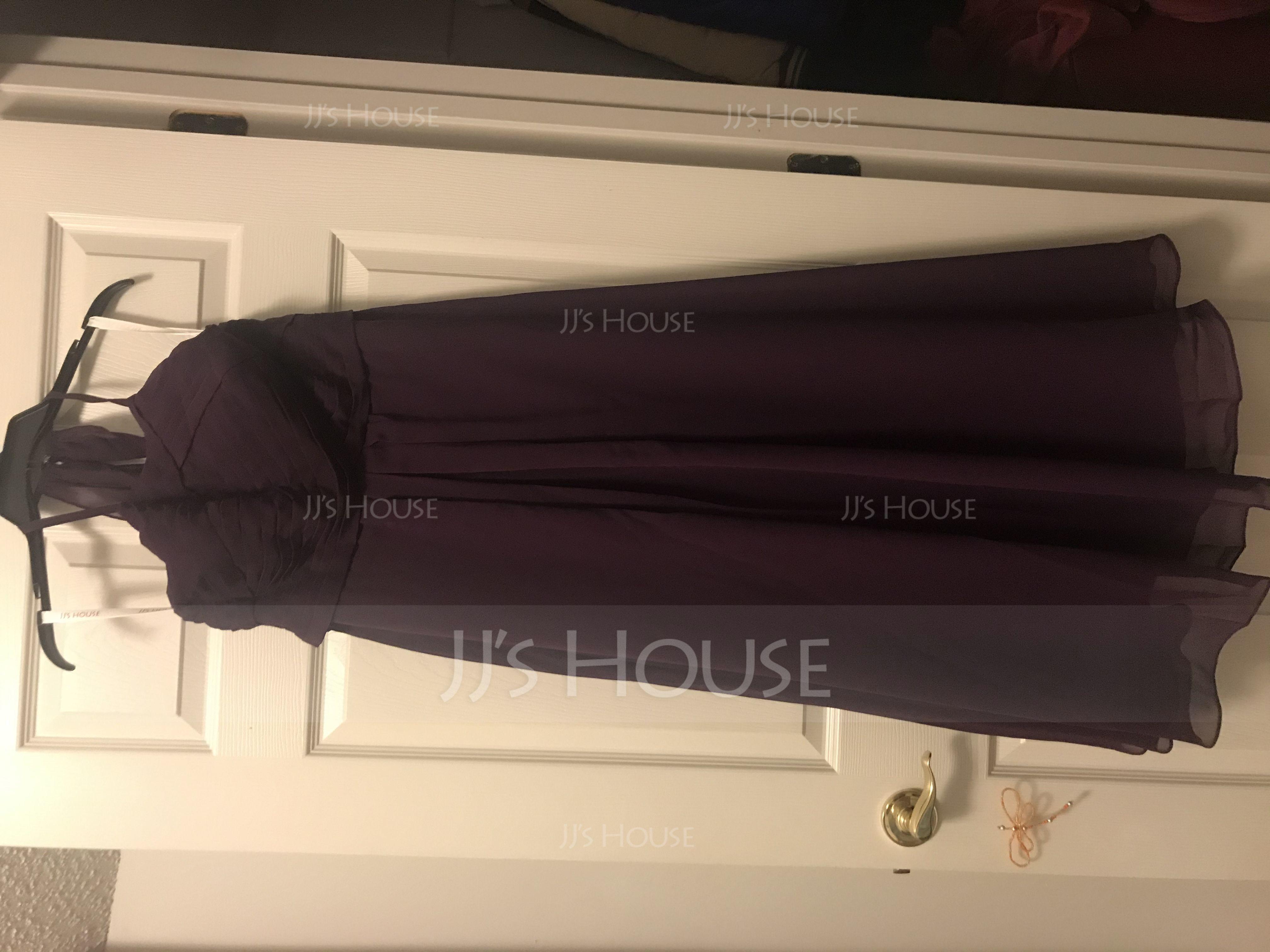 A-Line/Princess Scoop Neck Floor-Length Chiffon Bridesmaid Dress With Ruffle (007105573)