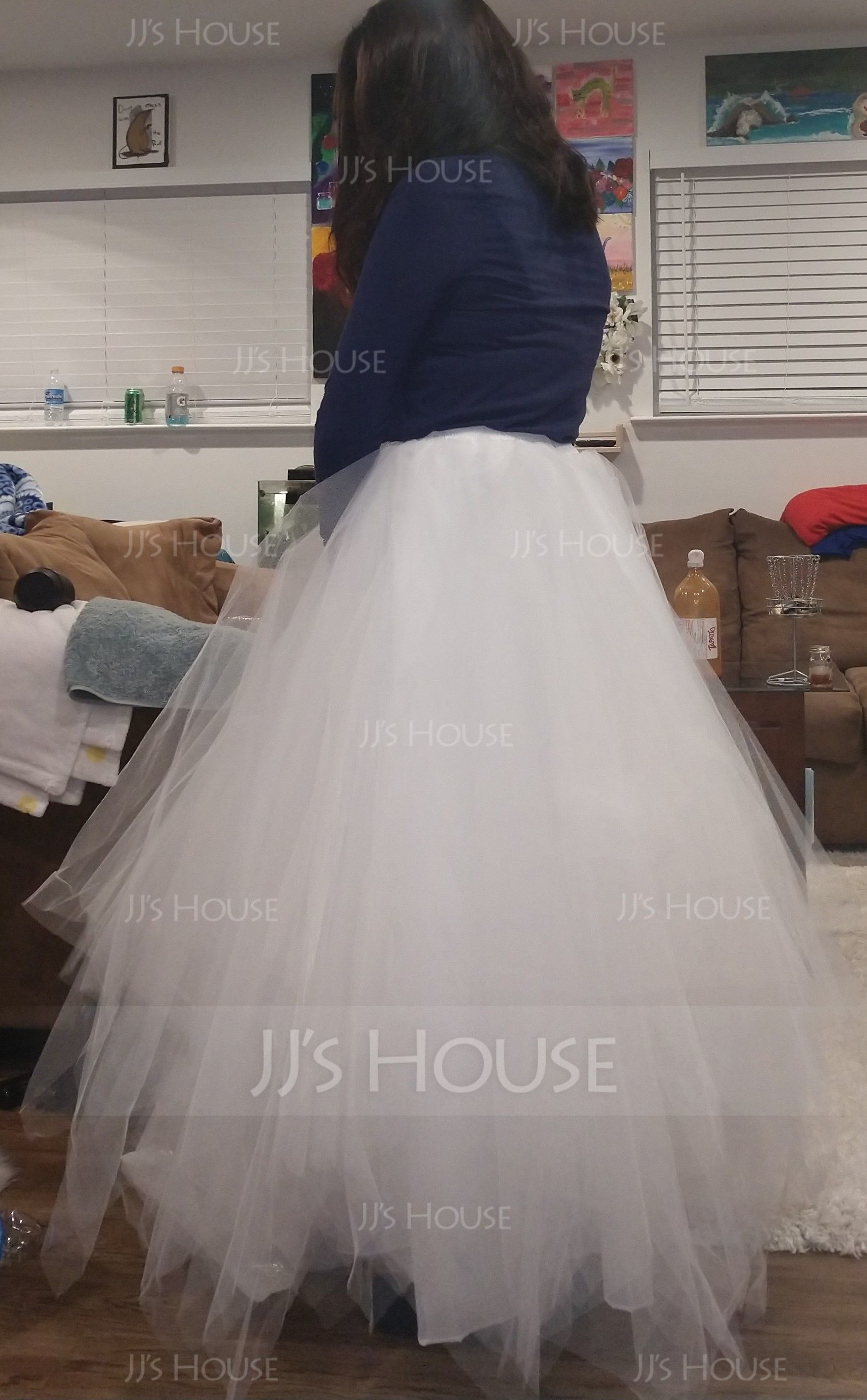 Women Tulle Netting/Polyester Floor-length 4 Tiers Petticoats (037034007)