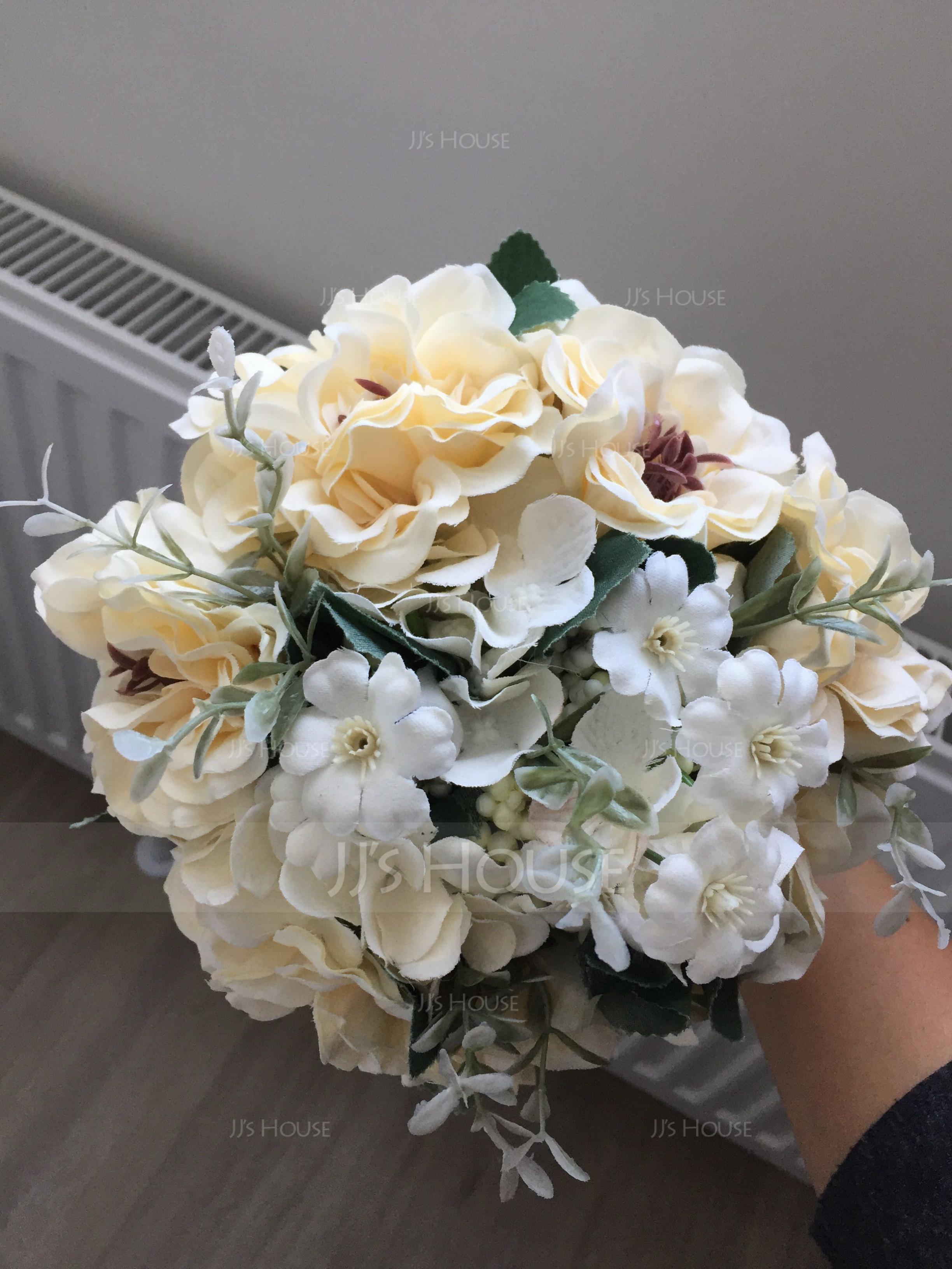 Free-Form Satin Bridal Bouquets - (123132727)