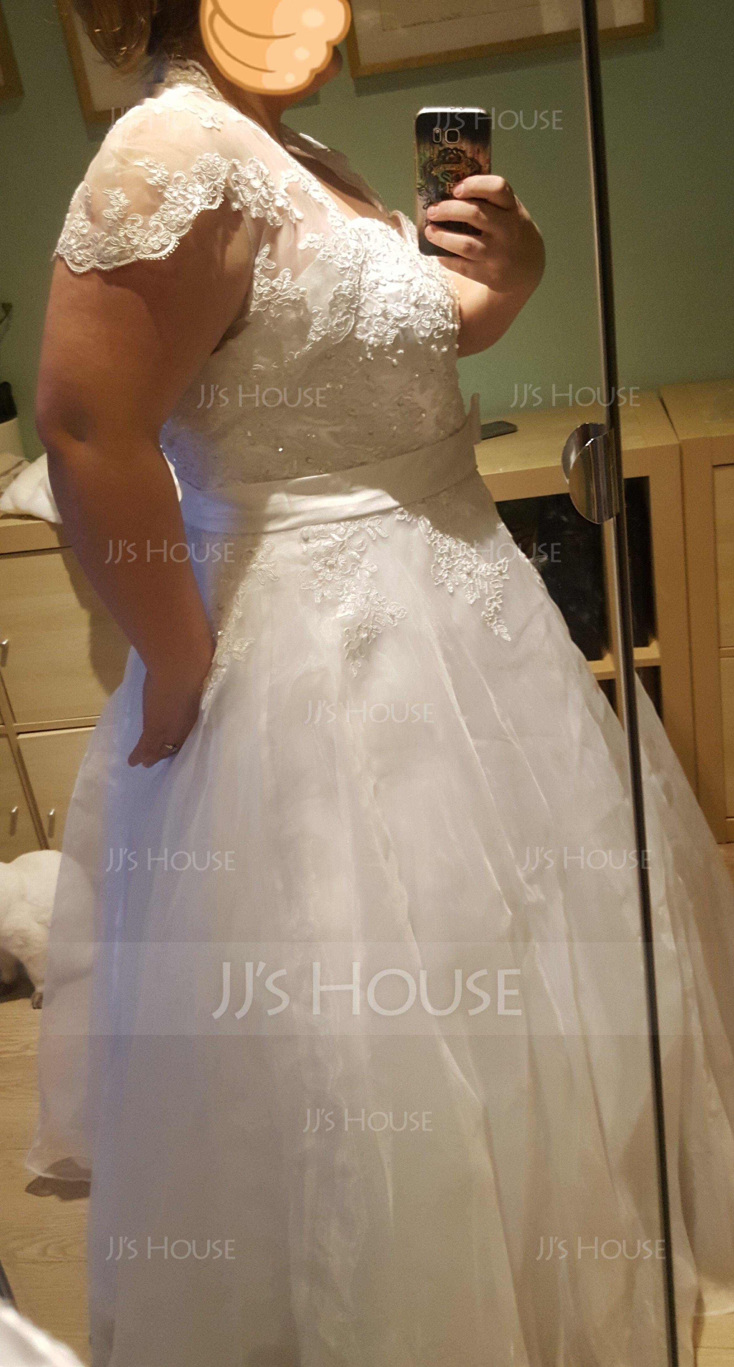 Short Sleeve Lace Wedding Wrap (013004983)