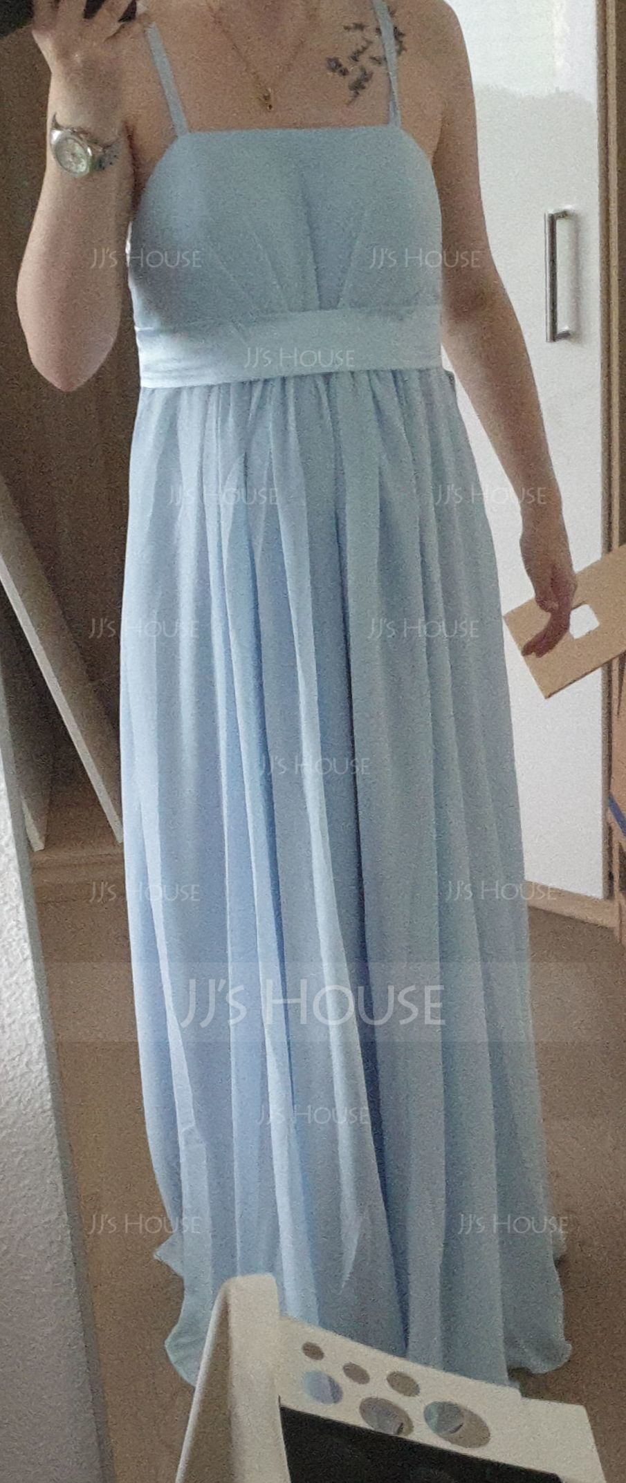 Empire Floor-Length Chiffon Maternity Bridesmaid Dress With Ruffle