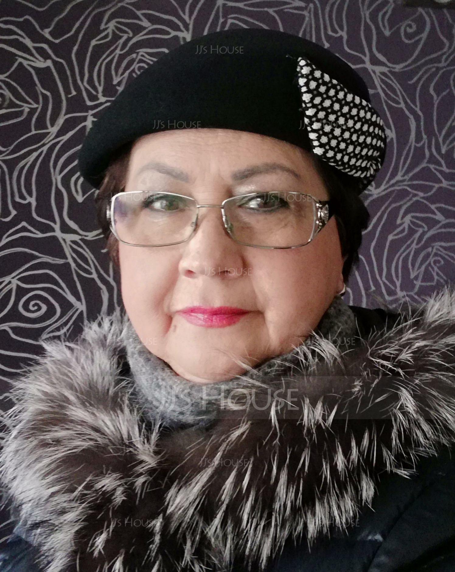 Sonar Naisten Kaunis Villa/Kangas jossa Bowknot Beretin hattu (196148521)