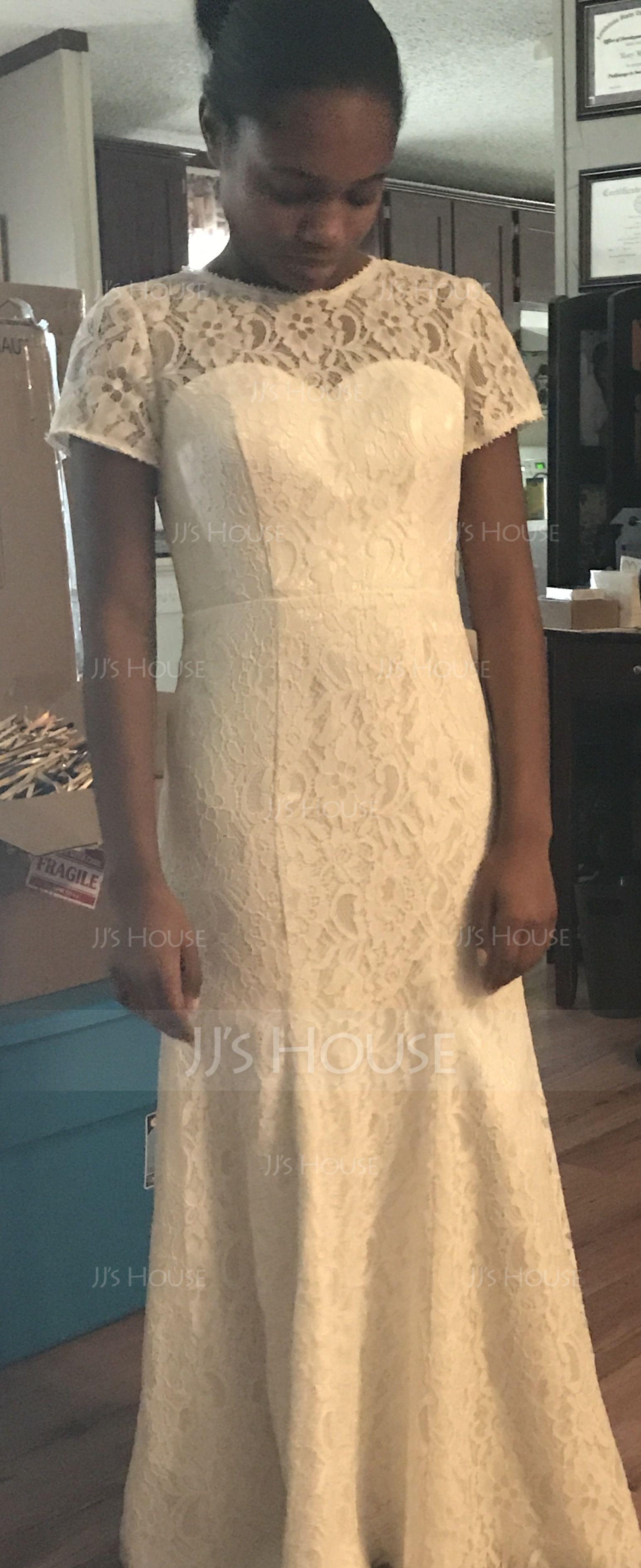 Trumpet/Mermaid Scoop Neck Floor-Length Lace Mother of the Bride Dress (008056831)